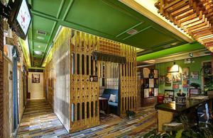 混搭风格时尚创意咖啡厅装修效果图