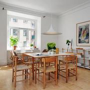 北欧风格简约木质餐厅设计装修效果图