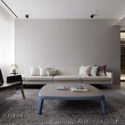 北欧风格灰色时尚客厅设计装修效果图