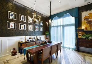 东南亚风格精致别墅餐厅设计装修效果图