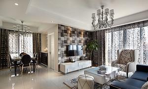 121平米简欧风格精美三室两厅两卫装修案例