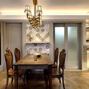 美式风格精致典雅餐厅设计实景图赏析