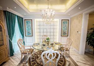 欧式风格华丽精美餐厅吊灯装修效果图