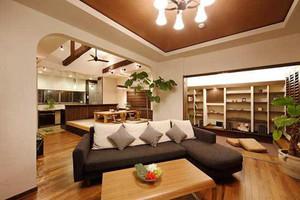 70平米日式风格简约公寓设计装修效果图