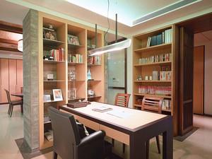新中式风格简单古朴别墅装修效果图