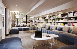 现代风格大型精美书店设计装修效果图