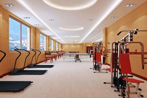 现代风格精致健身房吊顶装修效果图