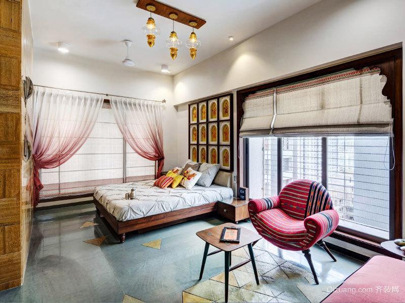 东南亚风格别墅室内精美卧室装修效果图