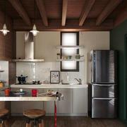 后现代风格开放式厨房吧台装修效果图