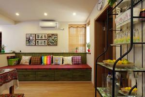 69平米混搭风格民族风一居室室内装修效果图