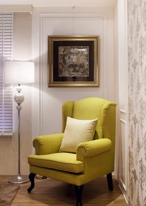 128平米简欧风格浅色典雅三室两厅装修效果图