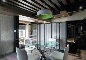 现代风格黑色系精致餐厅装修效果图