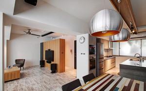 100平米现代风格回归自然原木色室内装修效果图