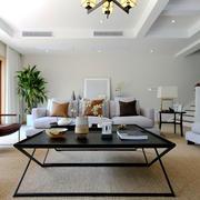 新中式风格典雅精致别墅客厅装修效果图