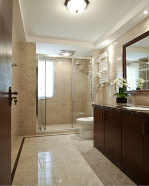 127平米中式风格精致三室两厅室内装修效果图
