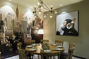 后现代风格精美餐厅包厢装修效果图