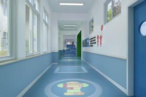 现代简约风格幼儿园过道装修效果图