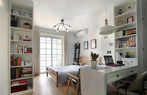 北欧风格简约卧室书房设计装修效果图