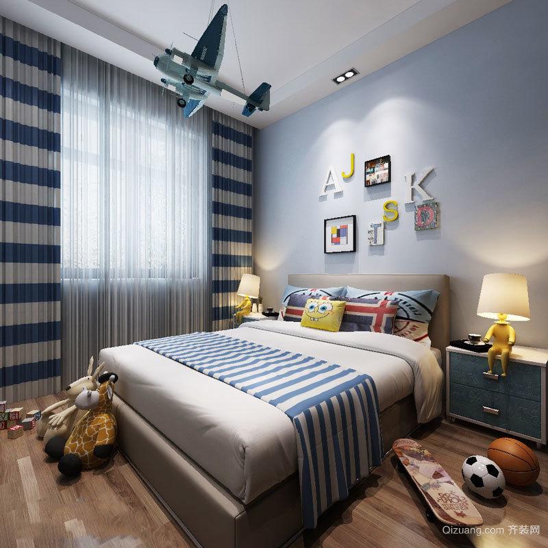 地中海风格海洋风儿童房装修效果图