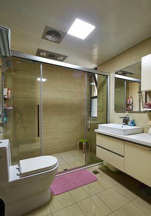 129平米美式风格精装三室两厅室内装修效果图案例