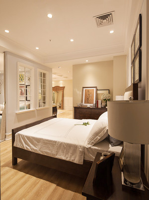 美式风格温馨田野风两室两厅装修效果图