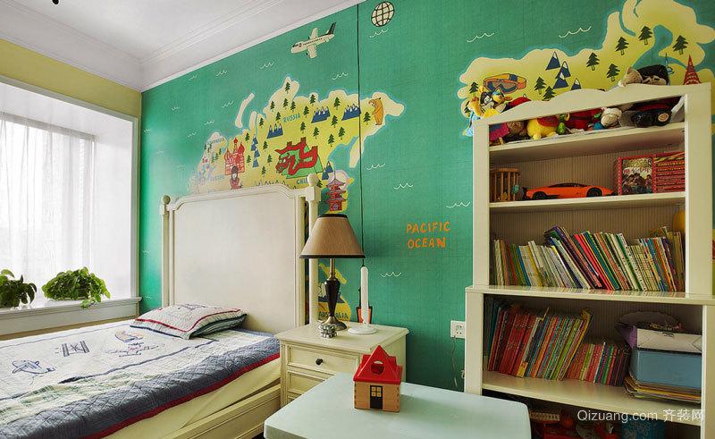 美式风格甜美清新儿童房装修效果图