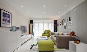 78平米清新风格时尚两室两厅设计装修效果图