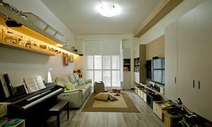 96平米现代简约风格三室两厅室内装修效果图