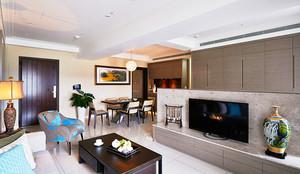 100平米新中式风格典雅精致室内装修效果图