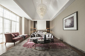 简欧风格精致酒店客房设计装修效果图