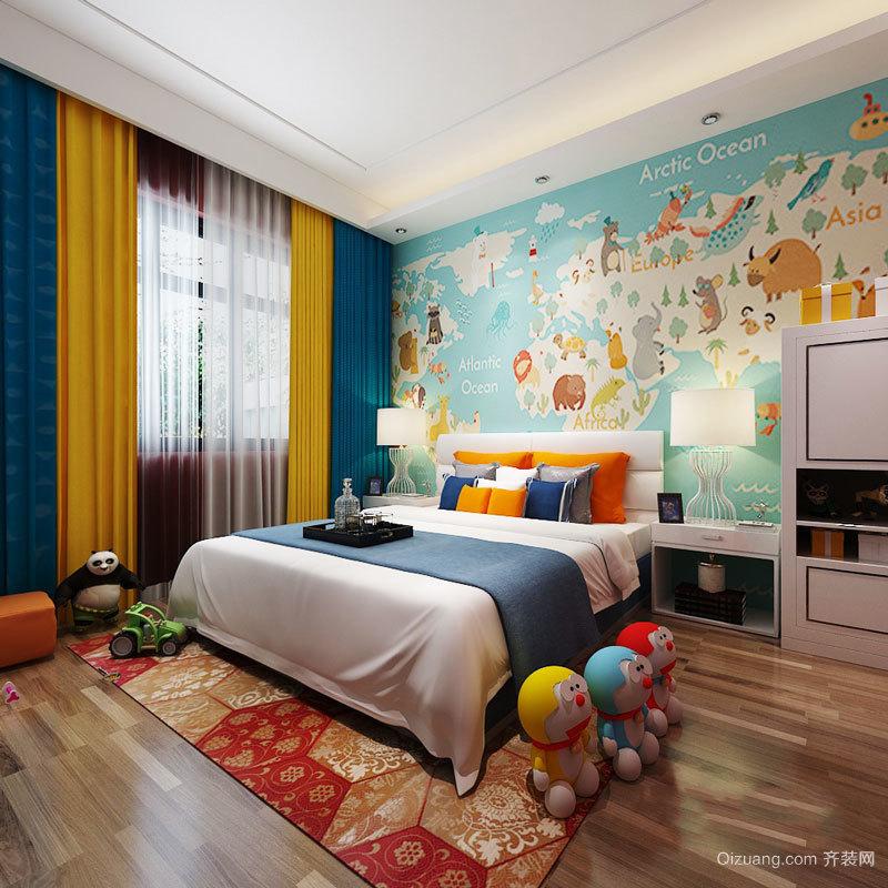 现代风格时尚精美儿童房设计装修效果图