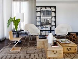86平米后现代风格创意时尚公寓室内装修效果图
