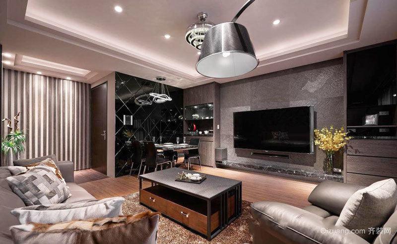 后现代风格精美客厅电视背景墙装修效果图