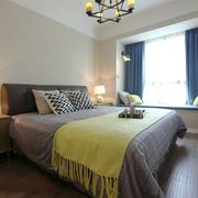 简欧风格温馨卧室飘窗设计装修效果图