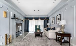 美式风格大户型精美客厅装修效果图赏析