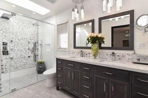 美式风格精致时尚卫生间淋浴房装修效果图