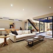 现代风格别墅室内精美客厅装修效果图