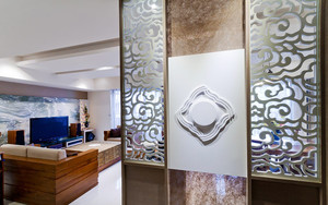 100平米新中式风格精美室内设计装修效果图
