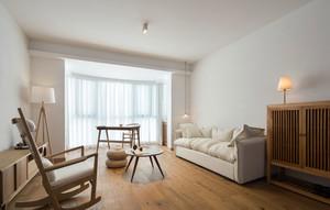 宜家风格原木自然色客厅装修效果图