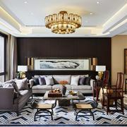 中式风格别墅古典精美客厅装修效果图