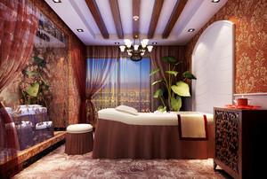 东南亚风格精致美容院包厢设计装修效果图