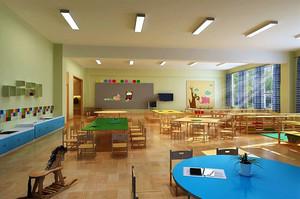 现代简约风格幼儿园教室装修效果图赏析
