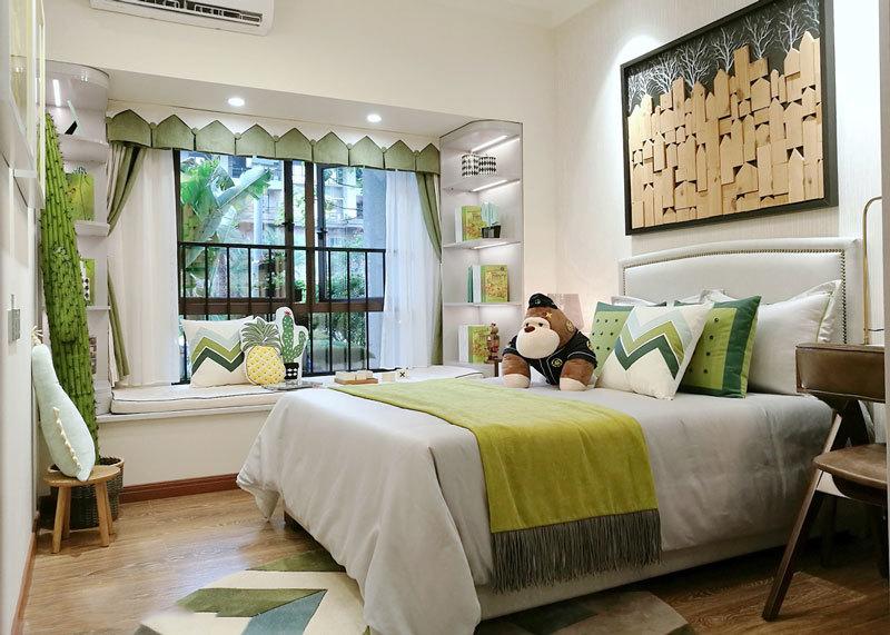 田园风格清新儿童房飘窗设计装修效果图
