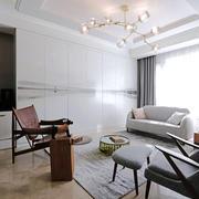 后现代风格极简精致客厅装修效果图