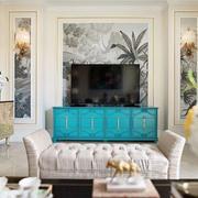 混搭风格精美客厅电视背景墙装修效果图