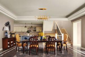 美式風格精美復式樓餐廳設計裝修效果圖賞析