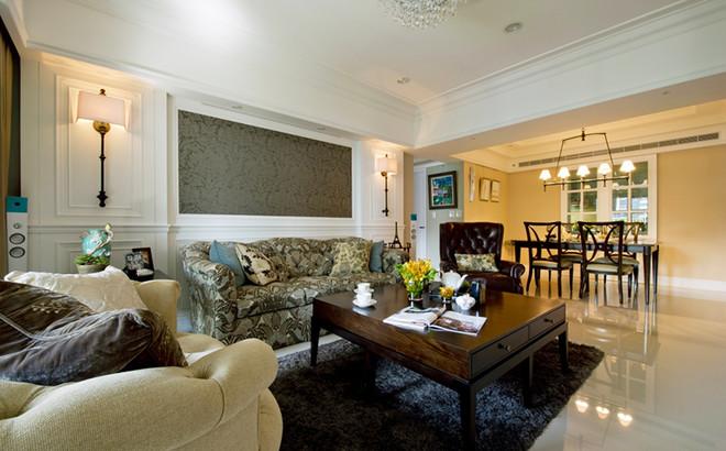 美式风格复古精致大户型室内设计装修效果图