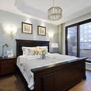 美式风格精致大户型主卧室装修效果图