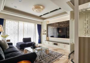 欧式风格复式楼室内精美客厅电视背景墙装修图