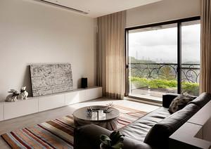 95平米现代简约风格三室两厅室内装修效果图赏析